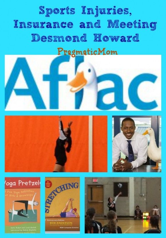 Sports Injuries, Insurance and Win Trip to Meet Desmond Howard! :: PragmaticMom  #AflacSweeps #CleverGirls #ad