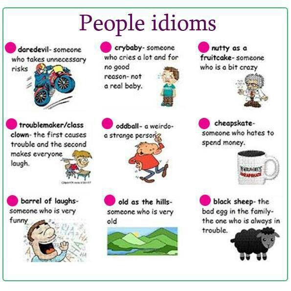 People idioms - English vocabulary
