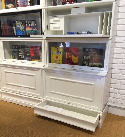Clever re-interpretation of the traditional lawyer's book case from Boknas. As seen at HP Market Sp '16.