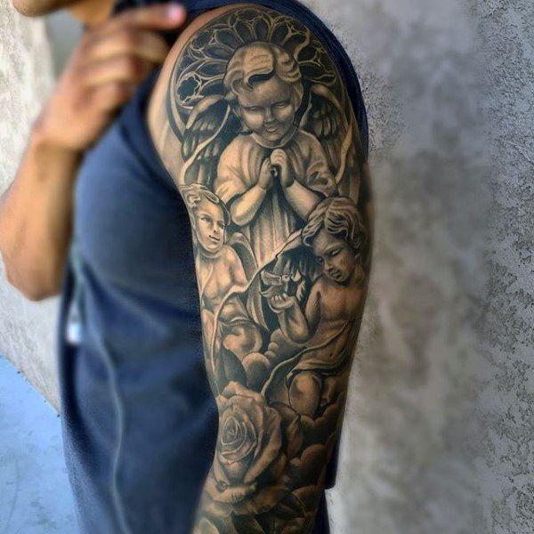 Catholic Shoulder Tattoos For Men | www.pixshark.com ...