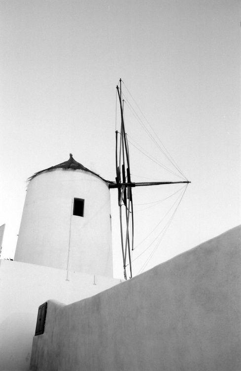 Wind-powered. Oia, Santorini, Greece, 2010.