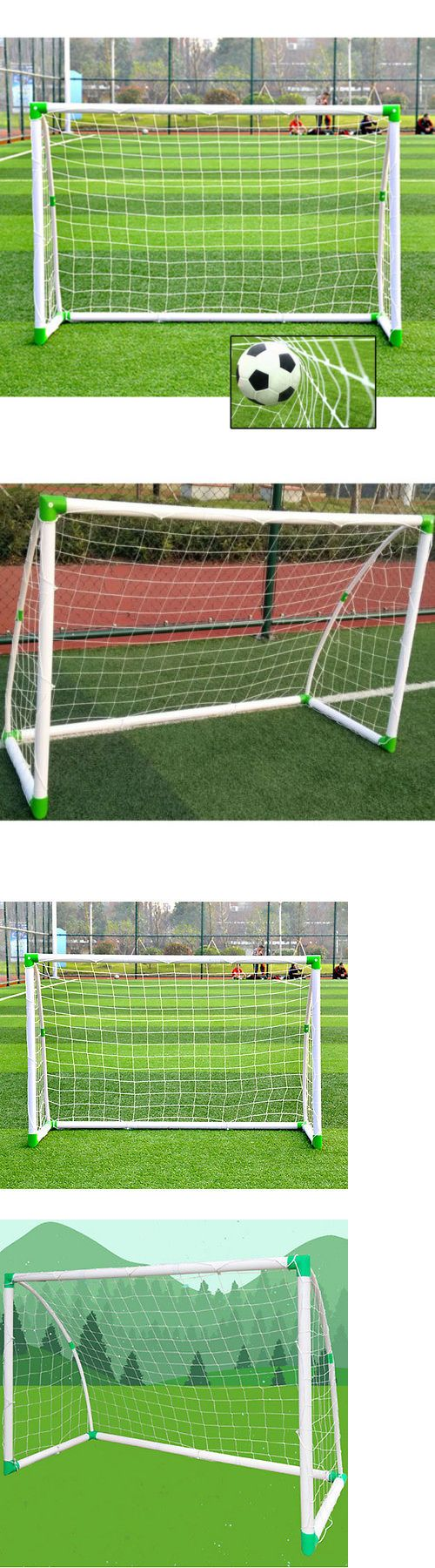 Goals and Nets 159180: Outdoor Sports Football Training Set Portable Soccer Goal, 6 X 4 For Child Gift -> BUY IT NOW ONLY: $34.99 on eBay!