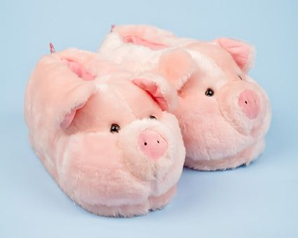 Pink Pig Animal Slippers - Keep your little piggies warm in these #pig slippers!