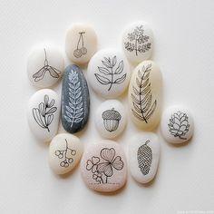Pebble Illustrations of Foliage (DIY Possiblity)