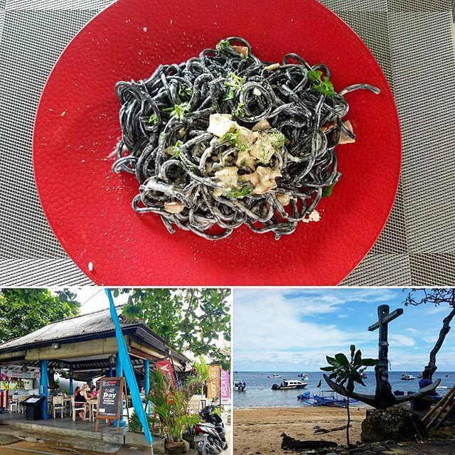 【nacchaman1987】さんのInstagramをピンしています。 《サヌールに来たら絶対に行こうと思っていたビーチ沿いにあるレストラン🍴 イカスミカルボナーラが絶品!!マジで美味かった✨✨✨ #インドネシア #Indonesia #バリ島 #bali #サヌール #sanur #stiffchilli #beach #イタリアン #italian #海 #sea #リゾート #resort #food #instafood #旅 #travel #旅人 #Traveller #travelglam #バックパッカー #backpacker #夫婦旅 #絶品 #料理 #最高》
