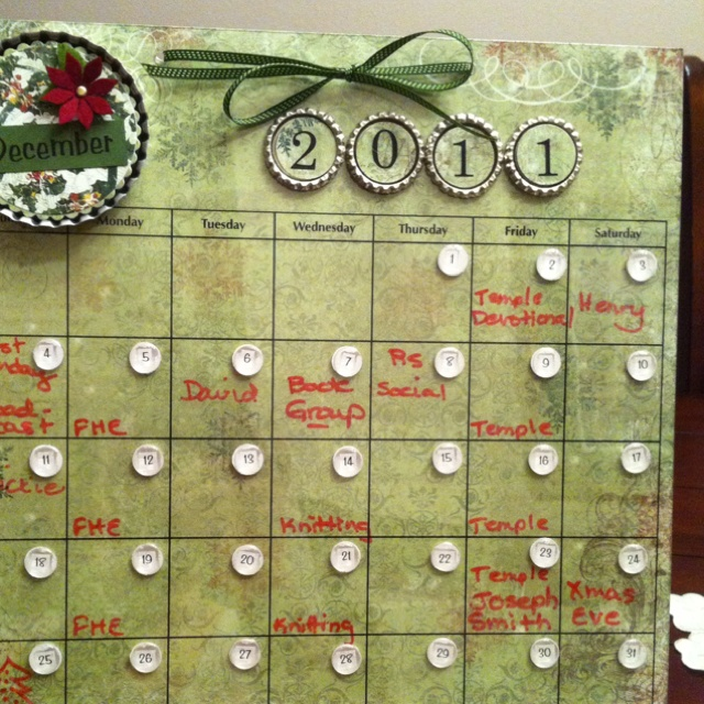 Magnetic dry erase calendar with changeable background papers. Fun to ...