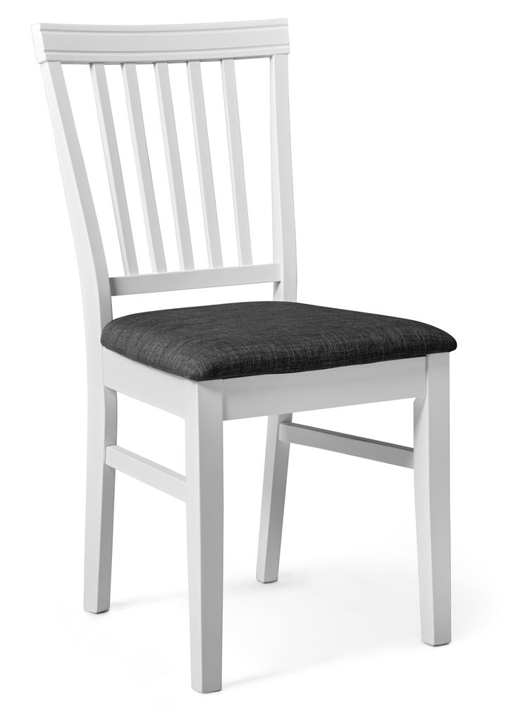 Alice är klassisk med fina detaljer. Enkelheten i Alice stol med yta i vitlack, gör den tidlös. Du får en stol som har riktigt bra komfort med vadderad sits klädd i ett vackert tyg. Alice passar lika bra i det lantliga matrummet som i storstadsköket.