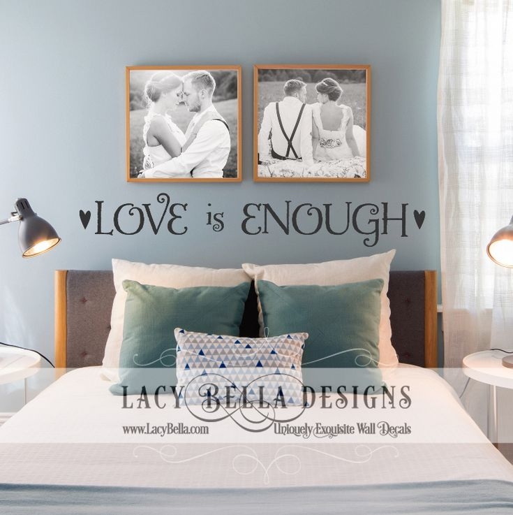 Love Is Enough Vinyl Wall Decal Lettering Stickers Master Bedroom Wall Decor