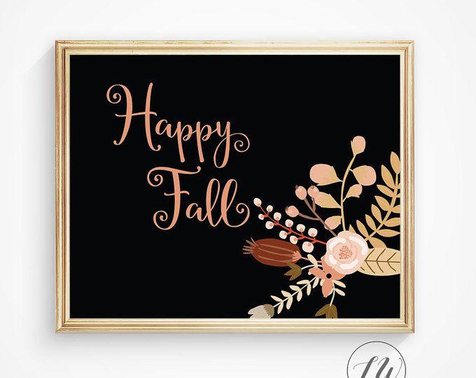 Autumn quote, autumn sign, autumn part print, autumn decorations, autumn decor, autumn leaves, orange print, seasonal quote, fall season