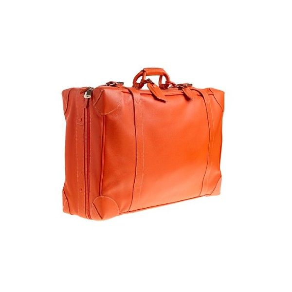 Women luggage Lugano leather suitcase (2,505 CAD) ❤ liked on Polyvore featuring bags, luggage, accessories, orange and purses