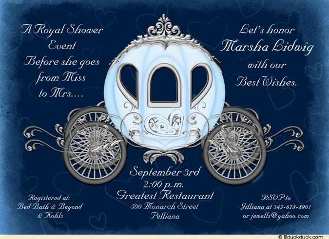 cinderella bridal shower | Fairytale Cinderella Bridal Shower Invitation - Pink Weathered
