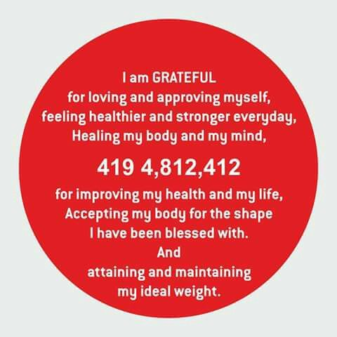 Weight loss with gratitude