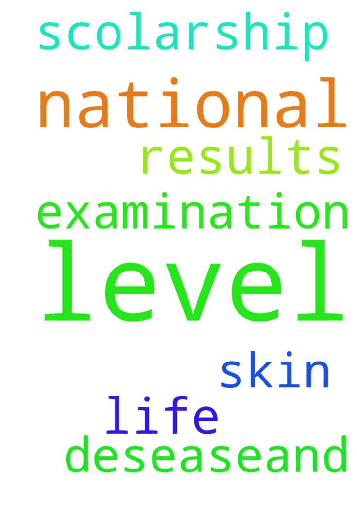 please pray for my A level national - please pray for my A level national examination results and scolarship, my skin desease,and my life Posted at: https://prayerrequest.com/t/F4S #pray #prayer #request #prayerrequest