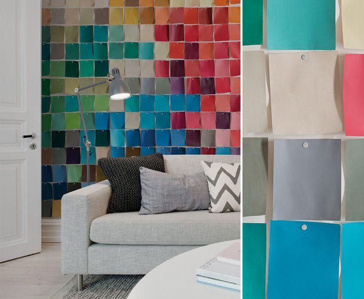 papier peint nuancier multicolor au fil des couleurs