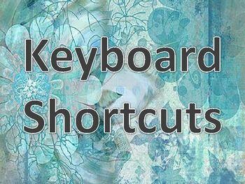 Printable Bulletin Board: Keyboarding Shortcuts for Computer Labs