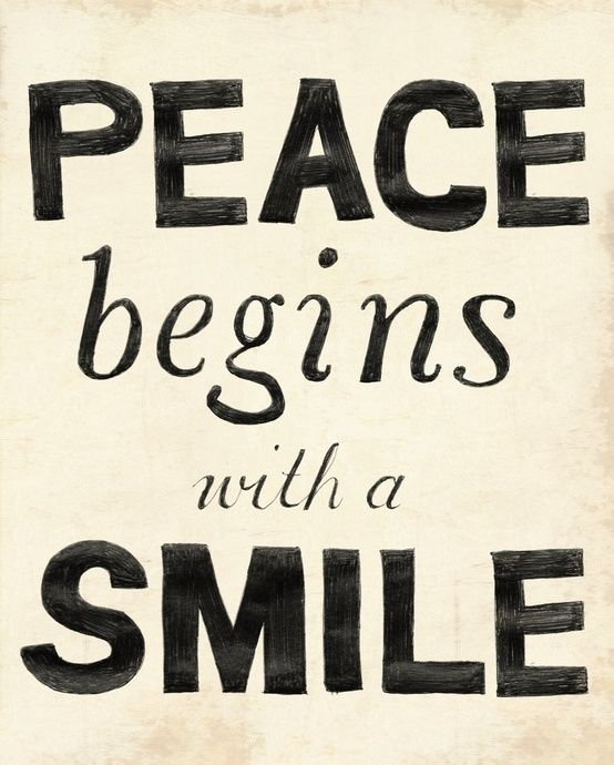 Peace and smile quotes