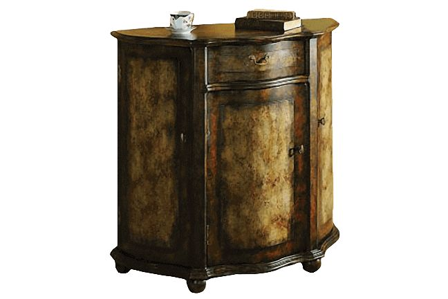 Demi Lune Burnished Brown Chest