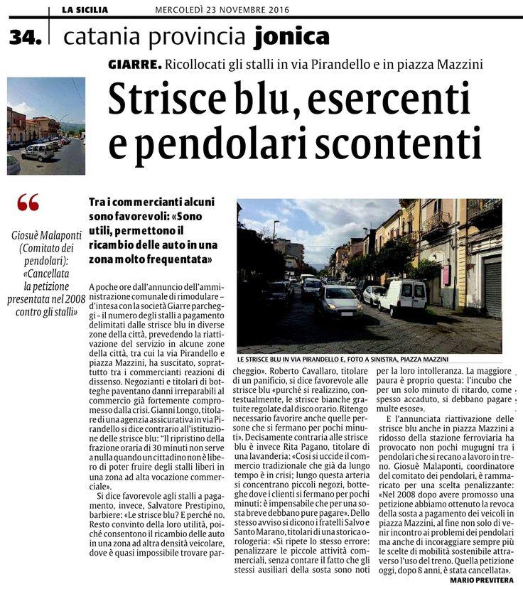Giarre. Strisce blu, esercenti e pendolari scontenti | Comitato Pendolari Siciliani
