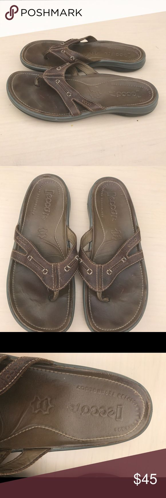 Ecco sandals like new Euc like new all leather says 42  fits an 11/11.5 Ecco Shoes Sandals & Flip-Flops