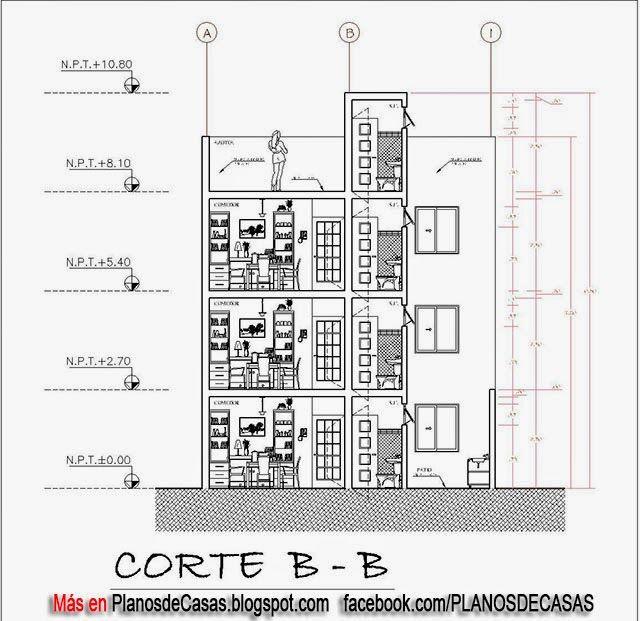 Planos Casas Estrechas Y Alargadas Interesting With Planos Casas