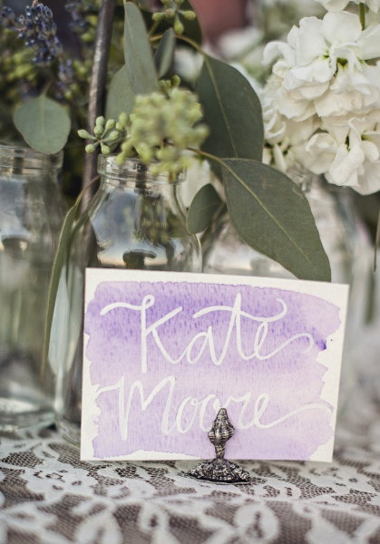 Loves these watercolor escort cards, and also a beautiful wedding from SMP.