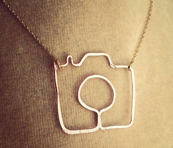 Camera necklace -- lovely handmade gift for your favorite shutterbug.