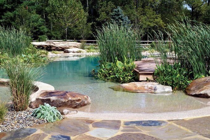 Plan d'eau dans le jardin