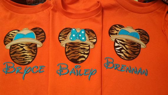 Safari  Mickey or Minnie Disney Shirts-Great for your Disney Vacation or Cruise on Etsy, $18.00