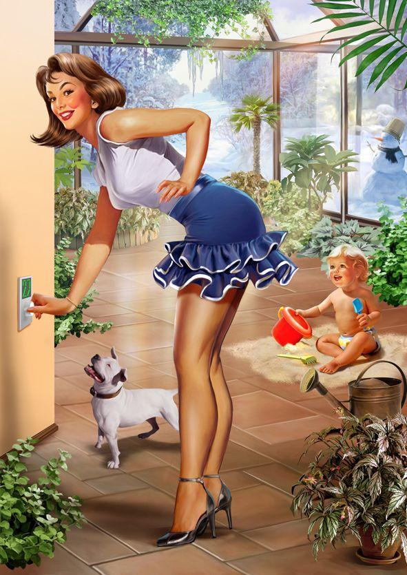 Рекламный пин-ап (Рисунки и иллюстрации) - фри-лансер Наталия Ершова [ERSHOVA-ill].