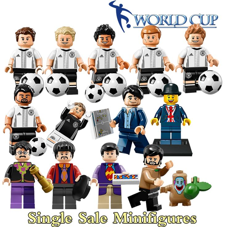 Building Blocks The Beatles Soccer Football Germany team Mr Lester Super Heroes diy figures Model Bricks Kids DIY Toys Hobbies