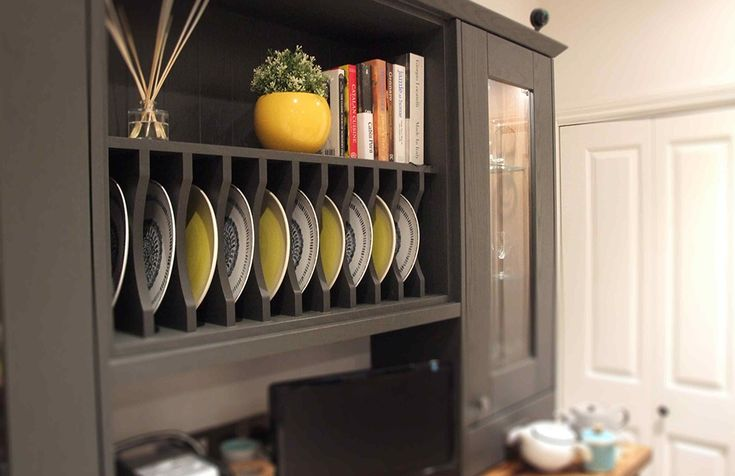 Plate rack from our Pronto Wilton Oakgrain Graphite range | BA Components