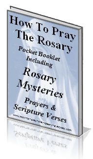 An small easy to use resource to help guide you along while praying the rosary. It has the four rosary mysteries in it. Foldable booklet you can download and print.