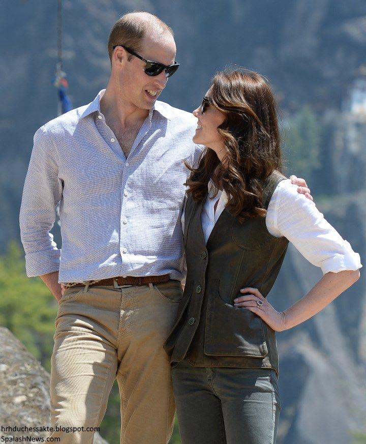 hrhduchesskate:  Royal Tour 2016, Day 6, Paro Taktsang-'Tiger's Nest' monastery, Bhutan, April 15, 2016-The Duke and Duchess of Cambridge