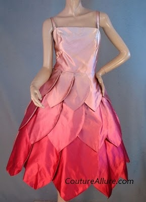 1950s pink petal dress. I think this would be a cute dress idea for Seussical. With feathers on it too, of course ;)