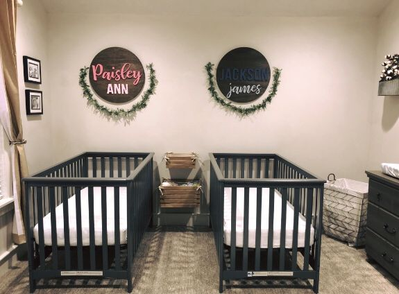 Gender Neutral Nursery Boy Girl Nursery Grey And White Twins