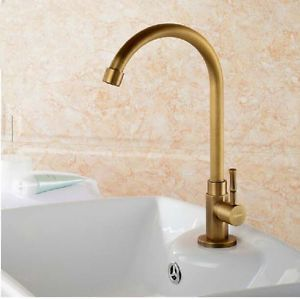 Website Photo Gallery Examples Antique Brass Bathroom Sink Faucet Single Handle Swivel Spout Kitchen Water Tap