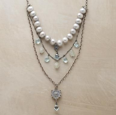 Vintage look necklaces - Love the combination with pearls!