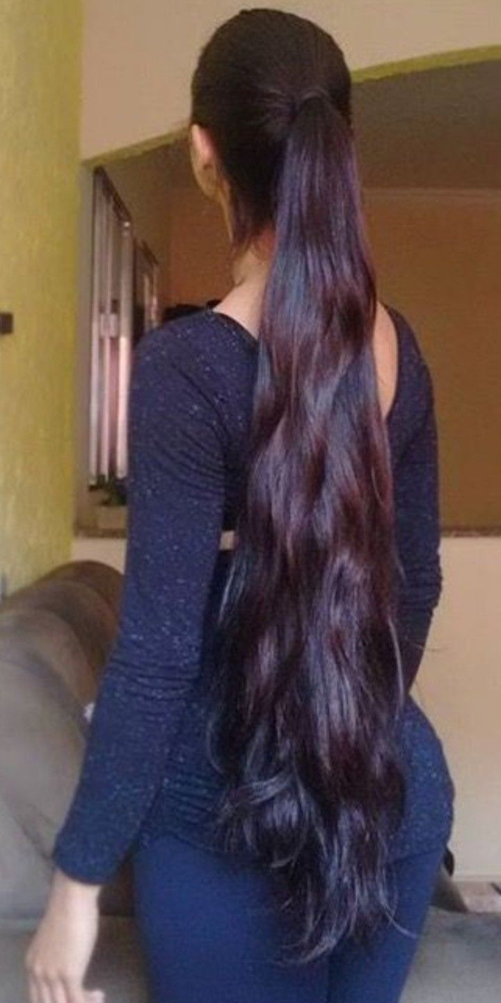 Pin By Gerry Read On Long Lovely Hair With Images Long Black