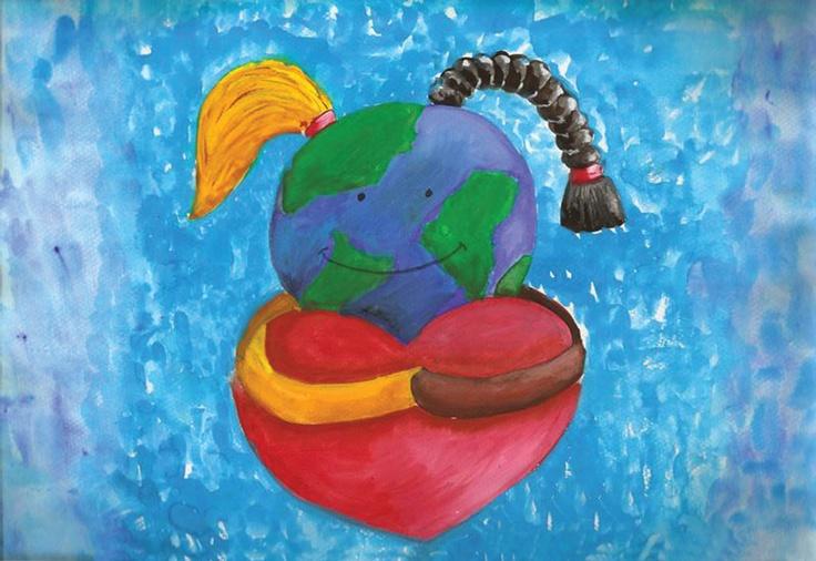 """Love - A Global Need"" by Hina Kehkashan Behleem, Karachi, Pakistan, 2011 Embracing Our Differences Exhibit, via embracingourdifferences.org"