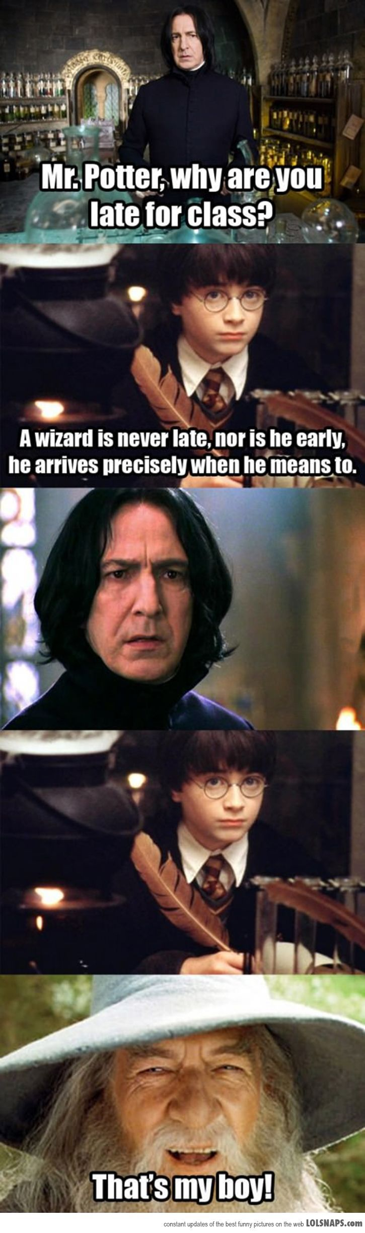 Wise Words, Mr. Potter