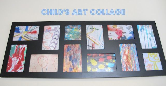 fun way to display kids art