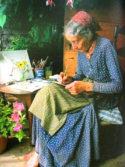 Tasha Tudor... Busy at what she loved doing