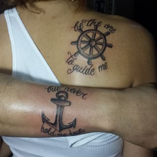 I sea what they did there. | 17 Totally Badass Matching Father And Daughter Tattoos