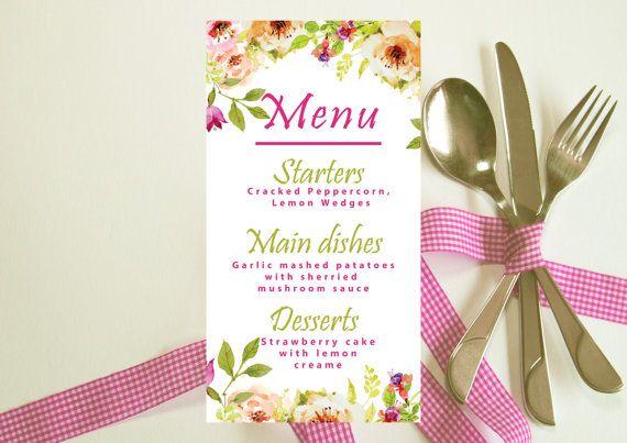 Hey, I found this really awesome Etsy listing at https://www.etsy.com/listing/462047912/printed-wedding-menu-floral-wedding-menu