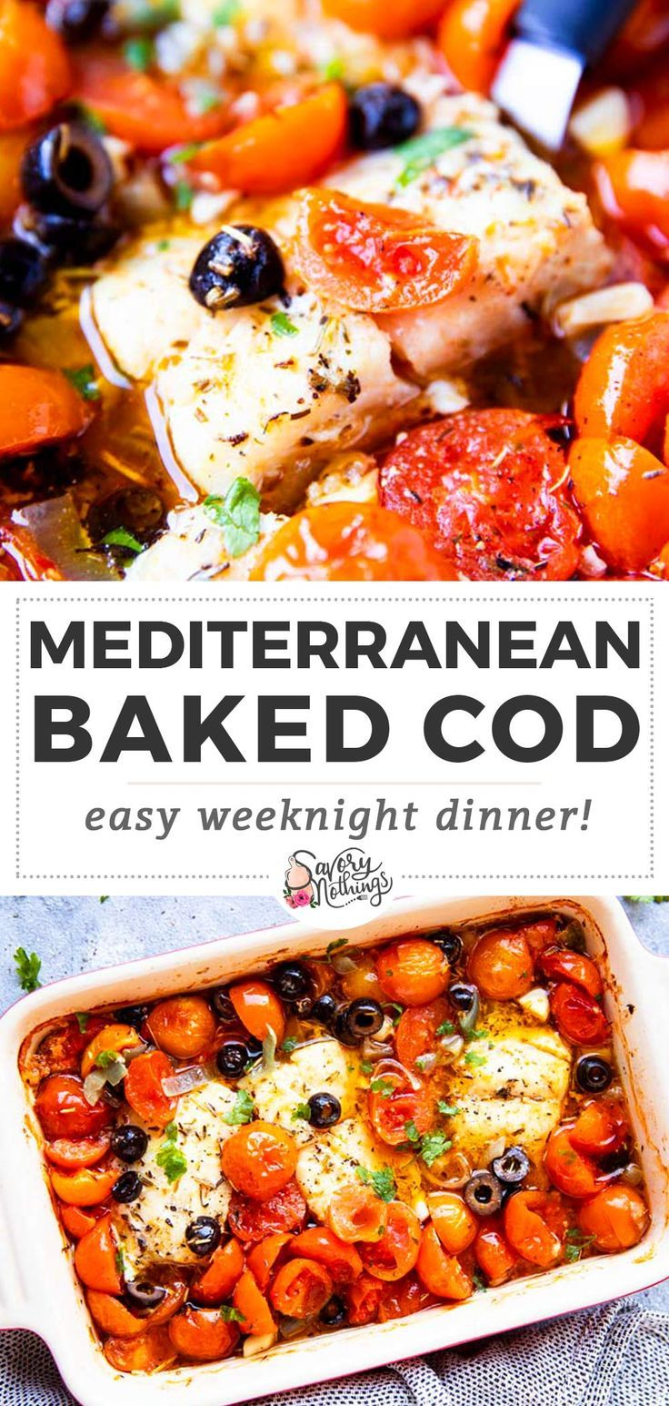 Perfect for when you need a quick meal: Made in one dish with tomatoes, olives a…