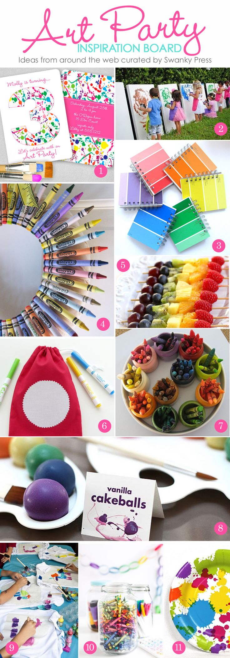 Arts and crafts party ideas - Simply Swanky Party And Style Inspiration From Swanky Press Art Birthdaybirthday Party