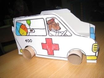 Ambulance met wc rol
