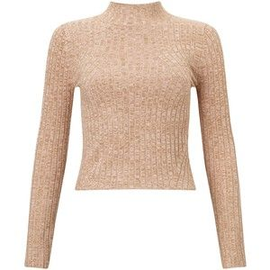 Miss Selfridge Petite Funnel Neck Jumper , Camel