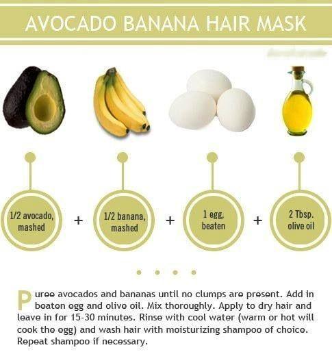 Idée masque fait maison pour vos soins profonds à réaliser une fois par semaine sur cheveux démêlés