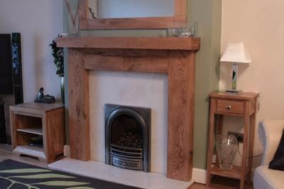 SOLID OAK FIRE SURROUND | eBay